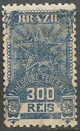 Brazil - Thesouro Federal - 300 Reis - 10049