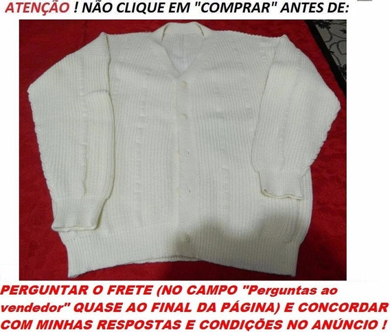 Casaco De Lã Feito Em Tricô - Novo