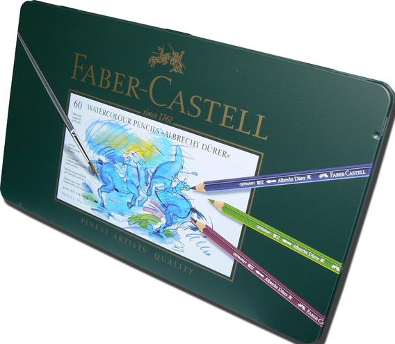 Lapices Color Faber Castell Durer X 60 Estuche Metal Cuotas