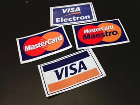 04 Adesivos Cartão D Crédito Visa Mastercard Eletron Maestro