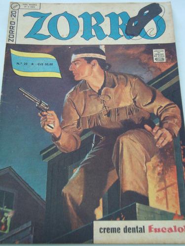 Zorro Nº 20 De 1963 Ebal Coleção Gibi Raro Antigo Excelente