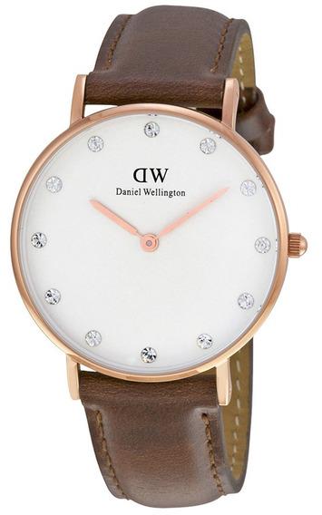 Reloj Daniel Wellington Andrew Acero Piel Mujer 0950dw