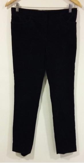 Pantalón Aterciopelado Cacharel Negro Talle 40