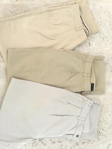 Pantalones Gabardina Clásicos Importados, Talles M Y L C/u