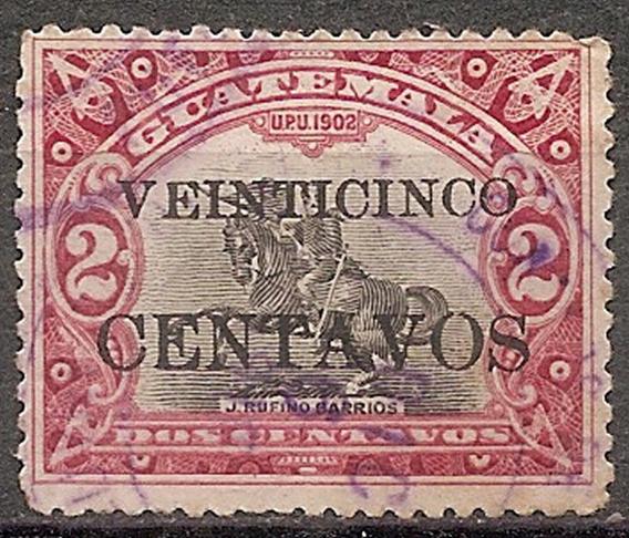 Guatemala Año 1916 Yvert 159 Con Sobrecaraga