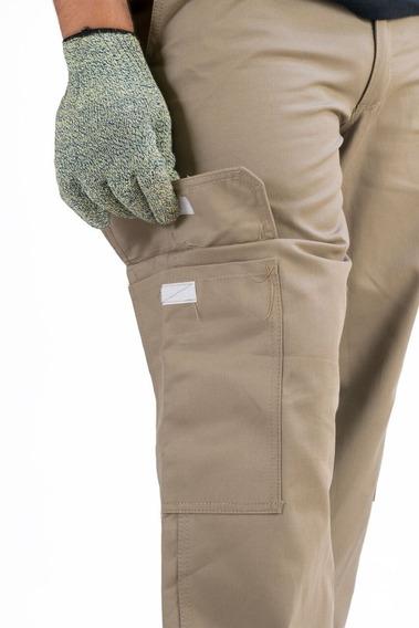 Pantalon Cargo Laboral Con Bolsillos Beige Pulqui