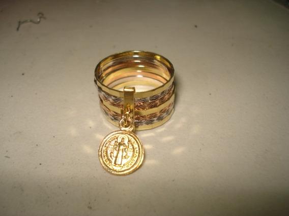 Anillo Chapa De Oro De San Benito Semanario Con Medalla