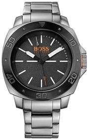 Relógio Hugo Boss 1513070 Orig Anal Silver Orange!!!