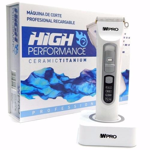 Maquina Recargable High Performance Ceramic Titanium Wpro