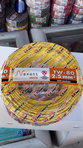Cable Electrico Indeco Tw80 Thw90 12awg - 14awg ( A Tratar )
