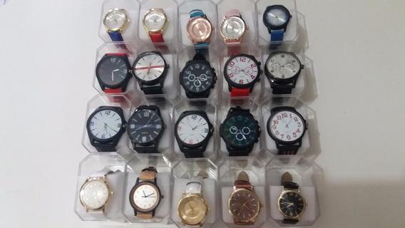 Promoção Relógios Masculinos E Femininos Kit C/15 + Caixas