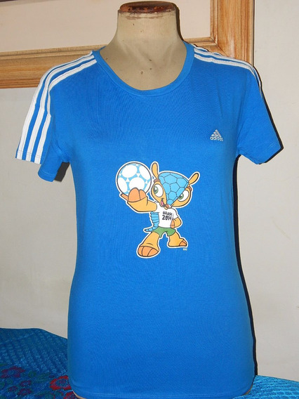 Blusa Feminina adidas Oficial Da Copa 2014 - Fuleco