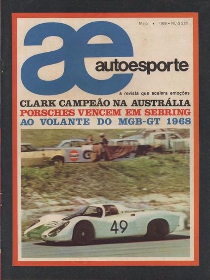 Auto Esporte Nº43 Maio/1968 Mgb Gt 1968 Museu Roberto Lee