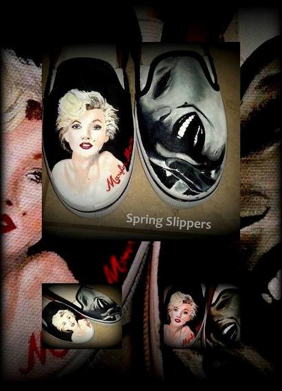 Zapatillas Pintadas A Mano Spring Slippers