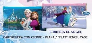 Cartuchera Plana Con Cierre Frozen Disney