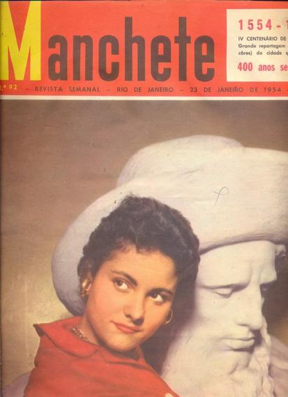 Manchete Nº 92 - 1954 - Flamengo/ São Paulo 400 Anos