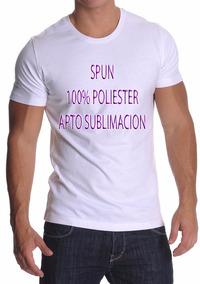 Remera Lisa Spun Adulto - 100% Poliester - Sublimación