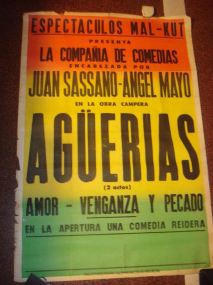 Antiguo Afiche Callejero De Papel Mal - Kut