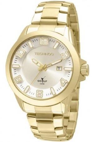 Relógio Technos Classic Golf Masculino Dourado 2115kqs/4k