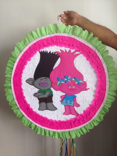 Piñatas Entamboradas Foami Pintadas :trolls,masha,