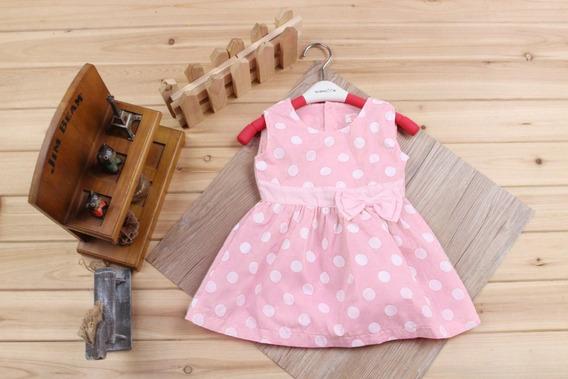 Vestido Bebê Fashion Rosa Com Branco.