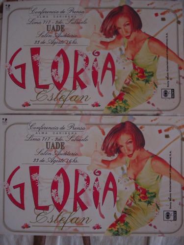 Gloria Estefan Conferencia De Prensa Uade Invitación 2000