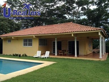 Oferta!!! Casa De Playa En Juan Hombrón - Rebajada A $135000