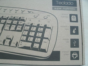Teclado Super Multimídia Multilaser Tc150 Abnt Usb