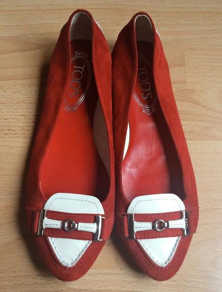 Zapatos Flats Mocasines Tods Italy 100% Originales!!