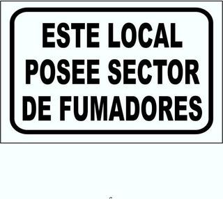 Cartel Este Local Posee Sector De Fumadores 22x28 Cm
