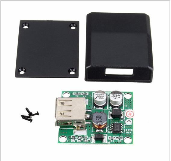 Kit 2x Mini Controlador De Carga Usb 2 Amp 6v-20v Carregador