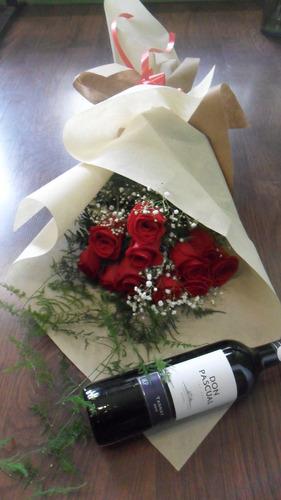 Ramo De 12 Rosas Rojas Y Don Pascual