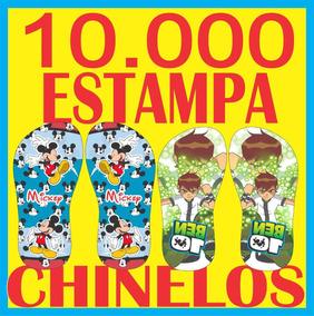 10.000 Pares De Estampas Chinelos Canecas Camisas F. Grátis