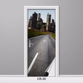 Adesivo Para Porta Rodovia Estrada Caminho Criativo Cr-30