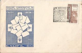 Envelope Comemorativo 2 Exposição Filatelica São Paulo 1960