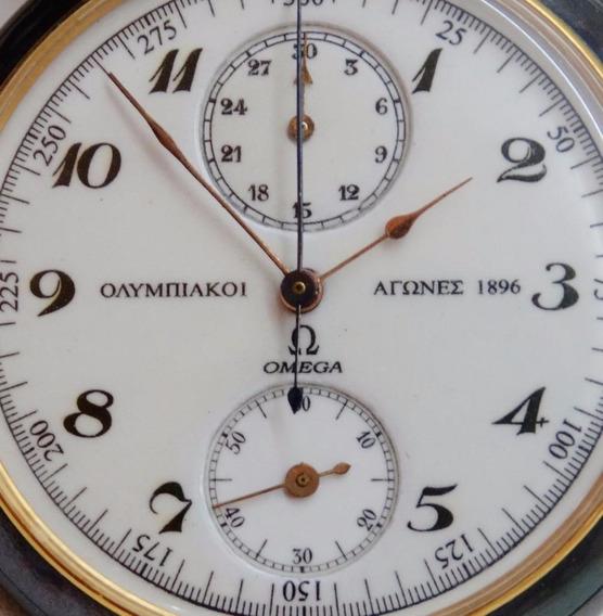 Relógio Omega Cronografo Olimpiadas Atenas 1896 Museu