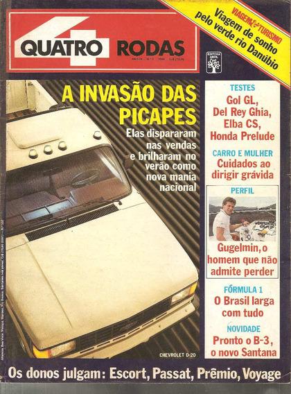 Revista Quatro Rodas Março 1988 - Invasão Das Picapes