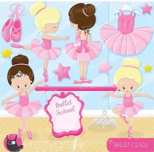 Kit Imprimible Bailarinas Imagenes Clipart Cod 18