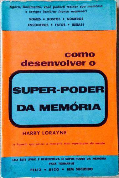 Livro Super Poder Da Memória - Como Desenvolver.