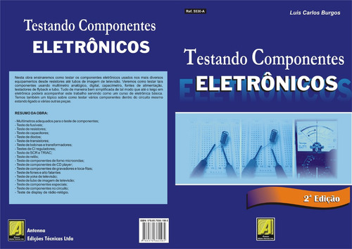 Livro Testando Componentes Eletrônicos Ref 5530a