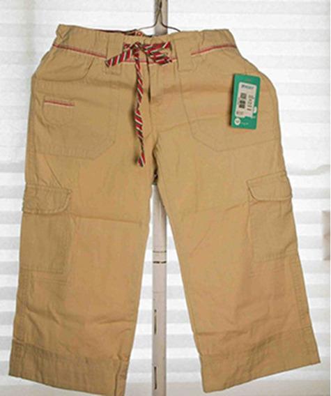 Pantalón Beige De Algodón Roxy 100% Original