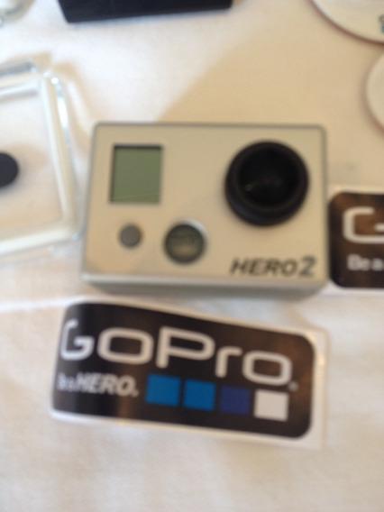 Go Pro Hero 2 - Semi Nova Com Vários Acessórios Inclusos