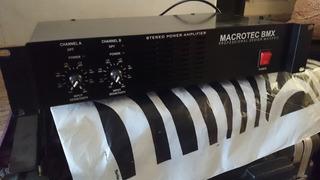 Potencia Macrotec Maxpro 300w Professional 300wts P/ Canal