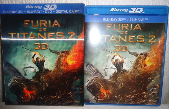 Furia De Titanes 2 Dos En Blu-ray 3d + Blu-ray + Dvd + Cop D