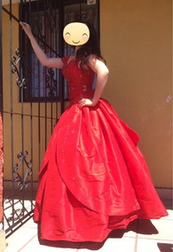 Vestido Xv Años Shantu Español Rojo
