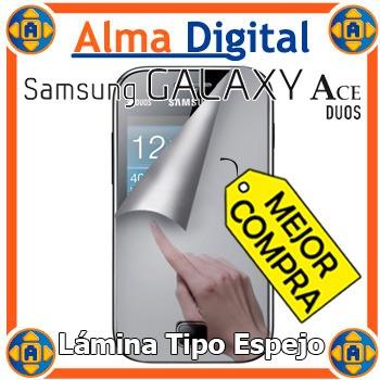 Lamina Protector Pantalla Espejo Samsung S6802 Ace Duos Paño
