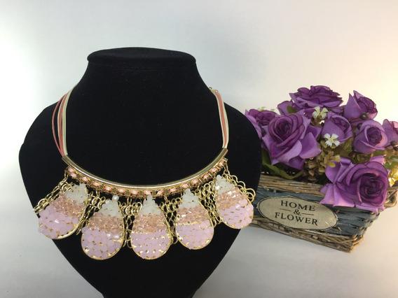 Bisuteria De Moda Collar Rosa Pastel