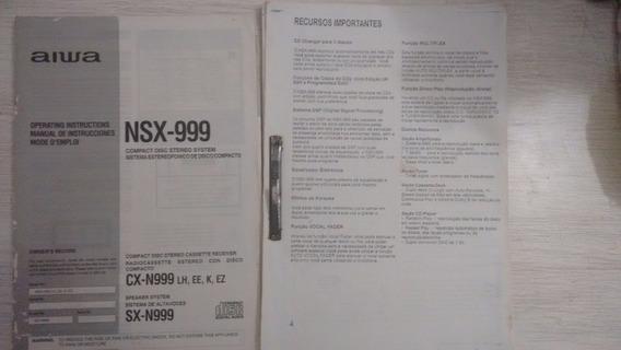 Manual Em Português E/ou Inglês Aiwa Nsx-999