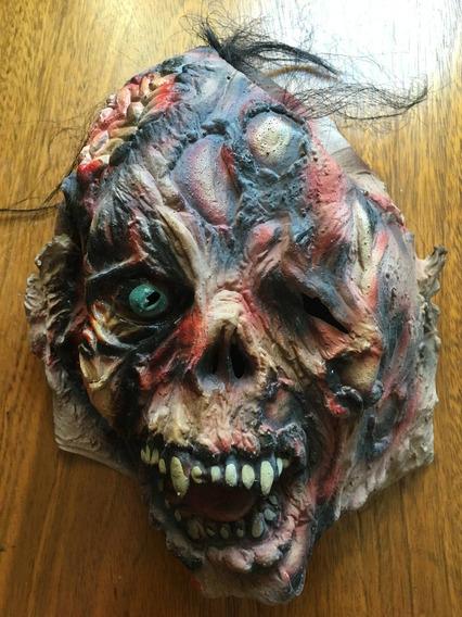 Disfraz Halloween Máscara Latex Zombie + Brazos