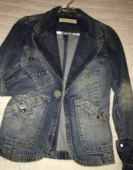 Campera Blazer Jeans Rapsodia Mujer Talle S Impecable !!